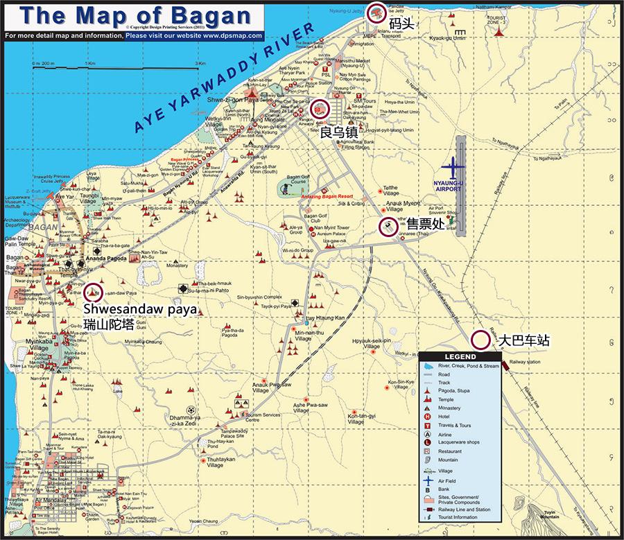 地图很难说清楚当时的情况,新的大巴车站其实离良乌镇和新蒲甘都很远
